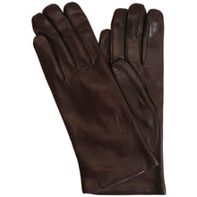Load image into Gallery viewer, Floto women's cashmere lined brown leather gloves