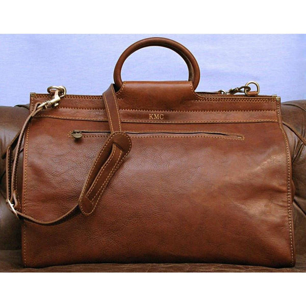 Floto Boutique Collection gladstone duffle travel bag monogram
