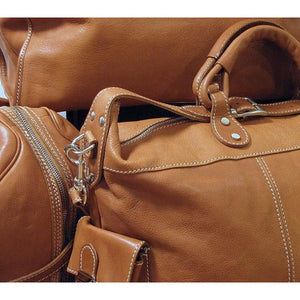 leather tote travel bag floto