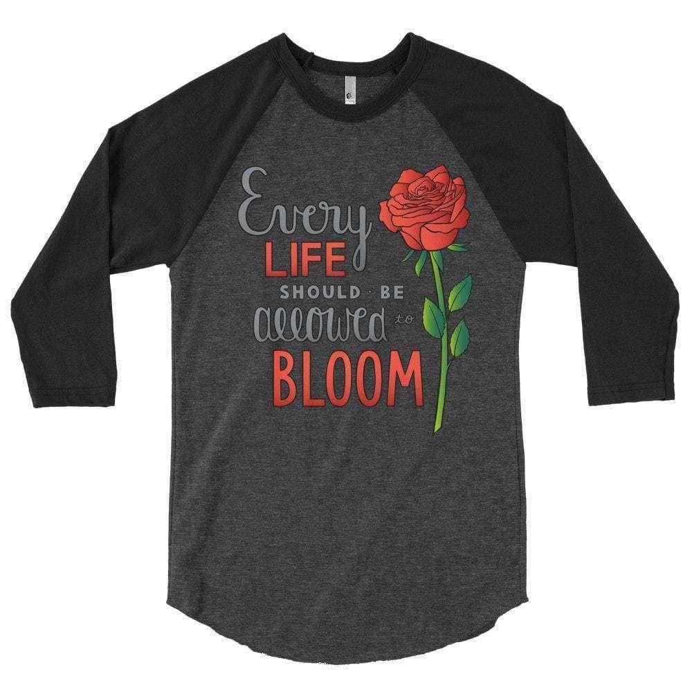 Bloom Raglan T-Shirt - LifeCulture Apparel pro life shirts
