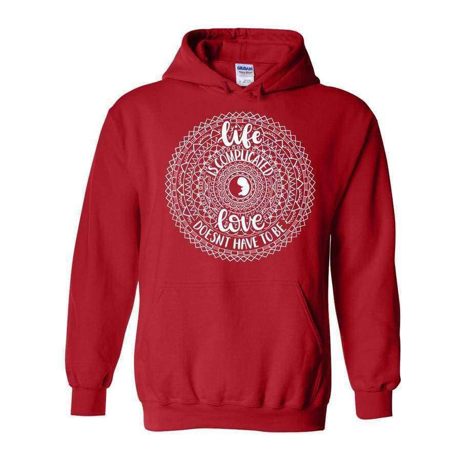 Life is Complicated Hoodie - LifeCulture Apparel pro life shirts