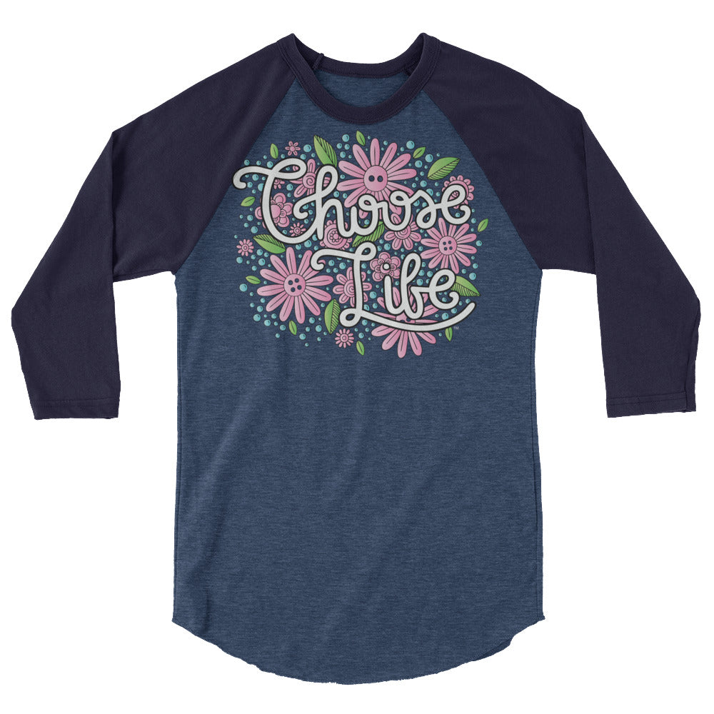 Choose Life Raglan Tee - LifeCulture Apparel pro life shirts