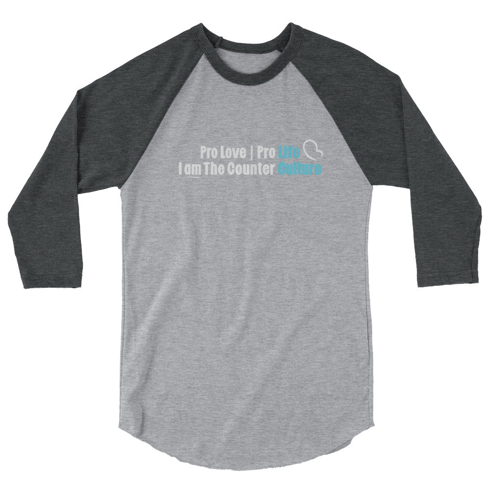 Counter Culture Raglan Tee - LifeCulture Apparel pro life shirts
