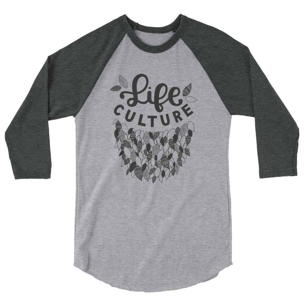 LifeCulture Leaves Raglan Tee - LifeCulture Apparel pro life shirts