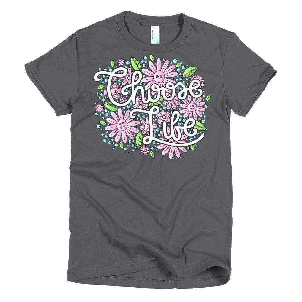 Choose Life Young Women's Slim T - LifeCulture Apparel pro life shirts