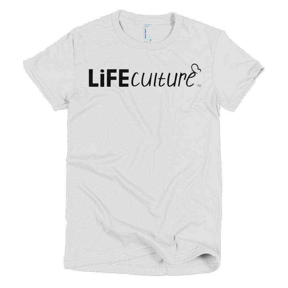 LifeCulture Logo Young Women's Slim T - LifeCulture Apparel pro life shirts