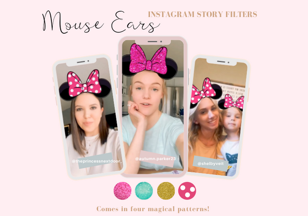All-New Minnie Mouse Ears Instagram Story Filters