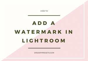 How To Add A Watermark in Lightroom