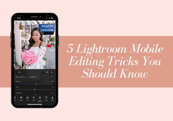 how to edit in Lightroom mobile app
