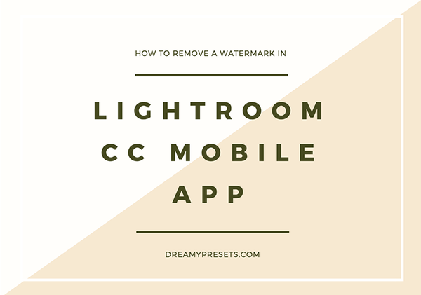 3 Easy Steps To Remove A Watermark In Lightroom Mobile App