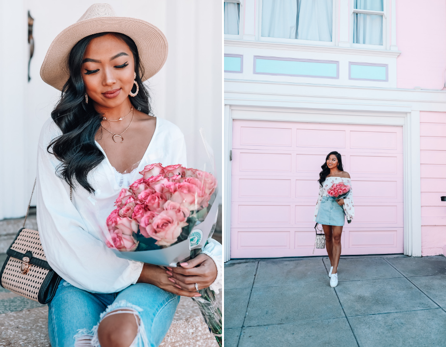 vina may, blogger spring style, instagram presets, blue mobile presets