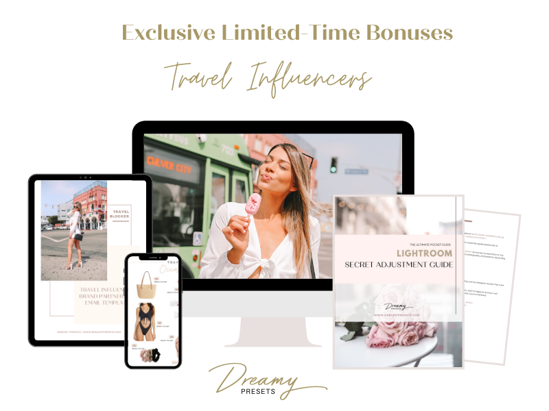 travel blogger lightroom presets bonus
