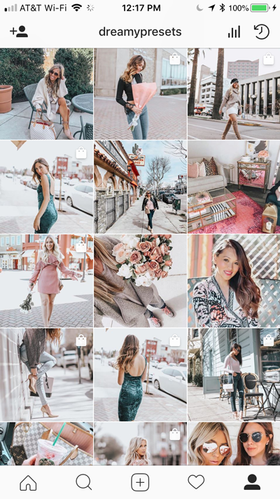 dreamy presets instagram feed
