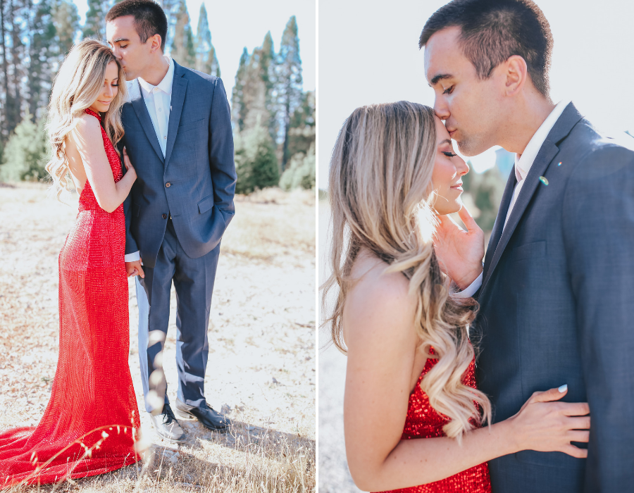 holiday lightroom presets, holiday couple photoshoot