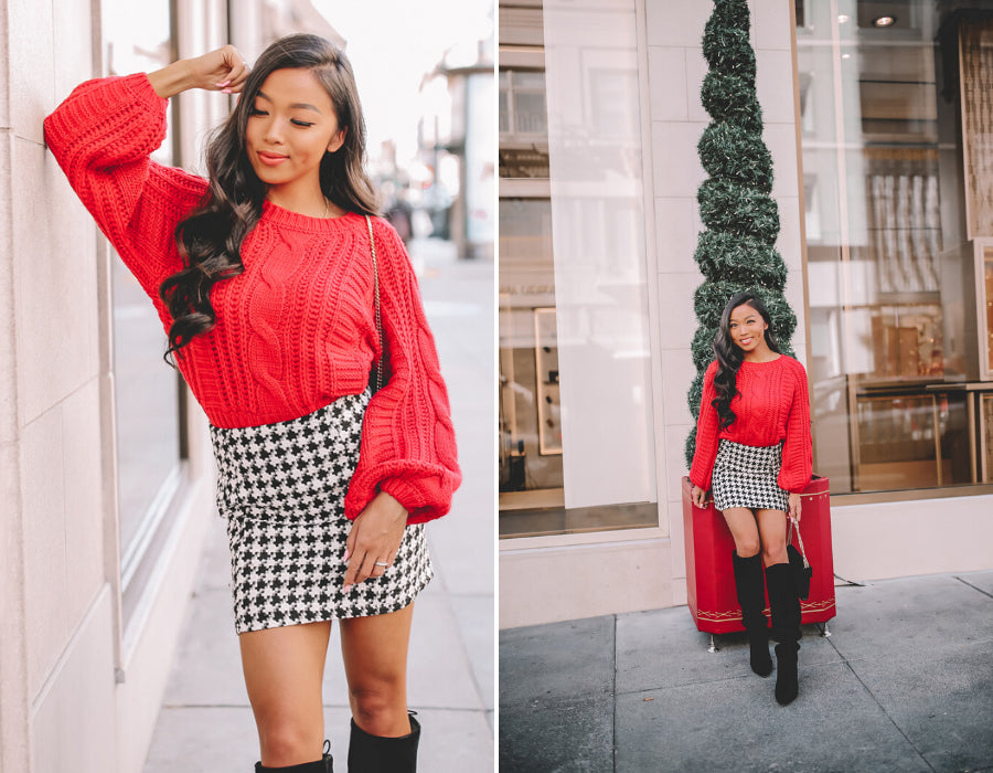 holiday blogger photoshoot outfits
