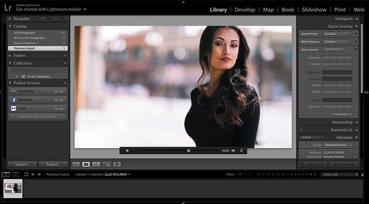 how to edit videos in lightroom