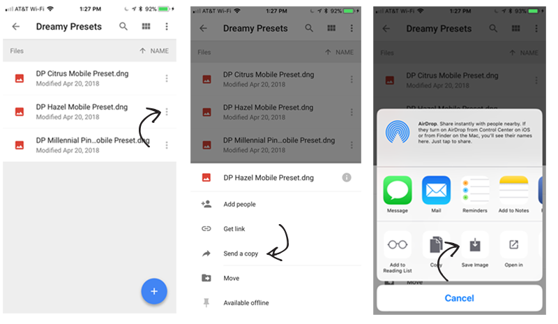 how to install mobile presets