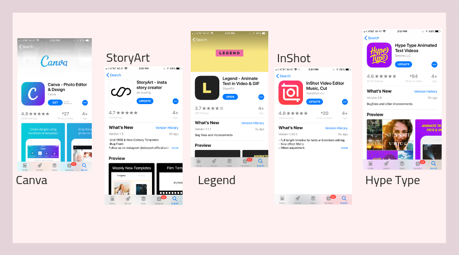 apps to use with Instagram Story