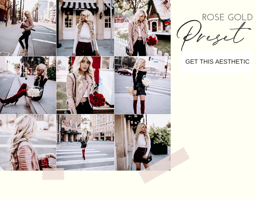 rose gold presets - instagram presets