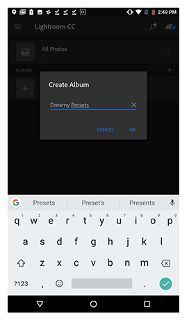 install lightroom presets to mobile app