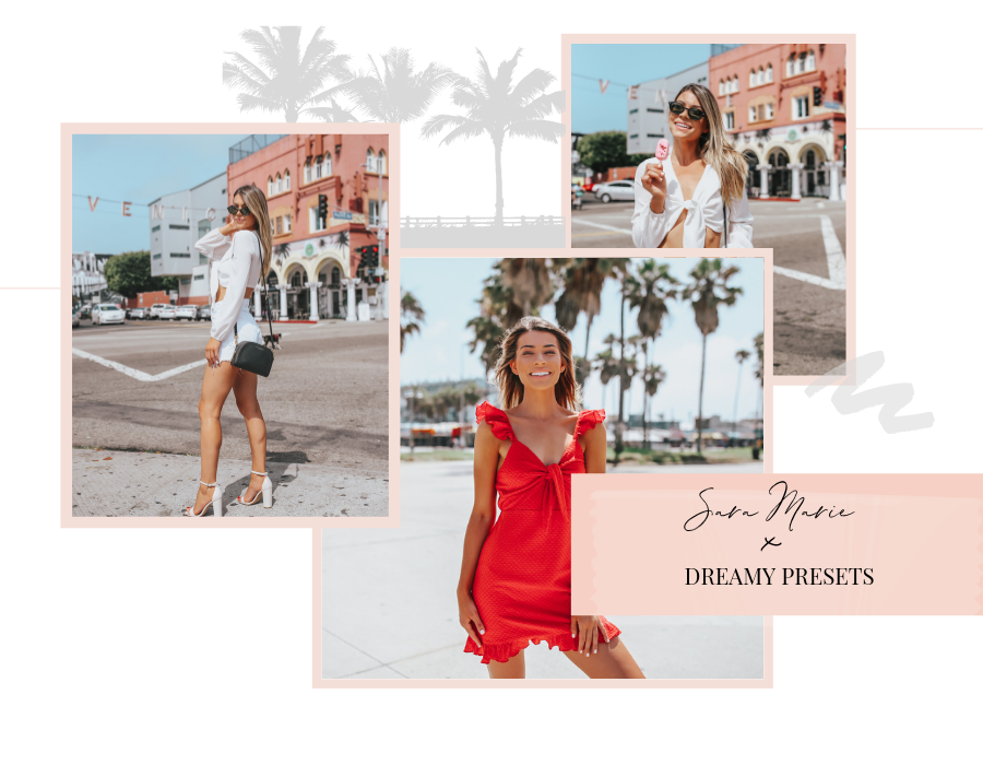dreamy presets photoshoot with sarah marie edited with millennial pink preset