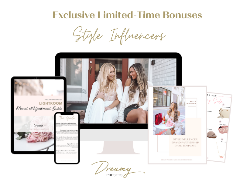 bonus influencer style lightroom presets