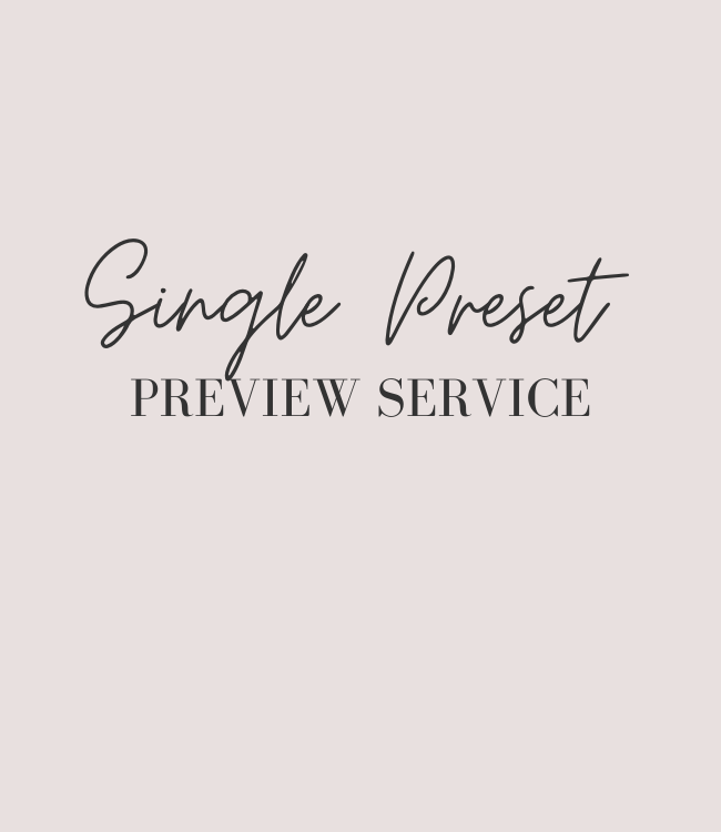 Single Preset Preview Service