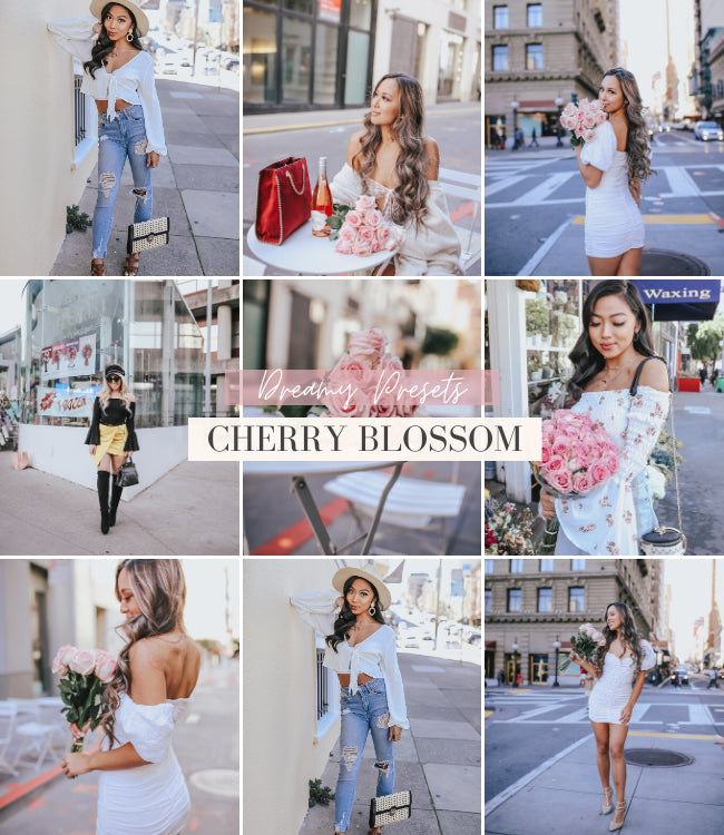 style influencer lightroom preset | cherry blossom