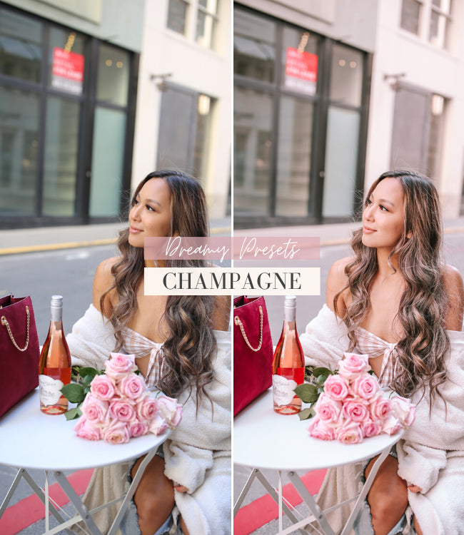 Style Influencer Lightroom Mobile Presets | Champagne Preset