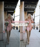 Style Influencer Lightroom Mobile Presets | Denim Blush Preset