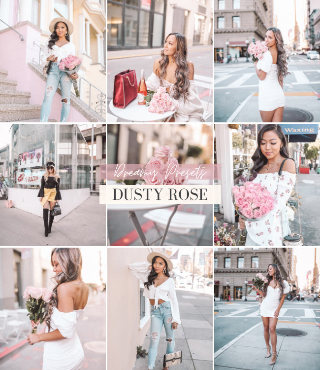 Style Influencer Mobile Lightroom Presets | Dusty Rose  Preset