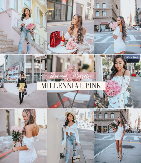 Style Influencer Lightroom Mobile Presets | Millennial Pink Preset