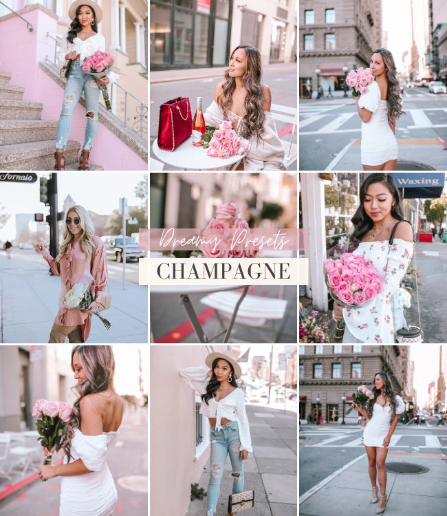 Style Influencer Mobile Lightroom Presets | Champagne Preset