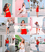 Travel Influencer Lightroom Preset Pack | Capri Lightroom Preset
