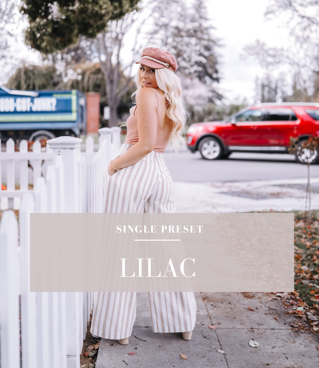 The Lilac Lightroom Preset