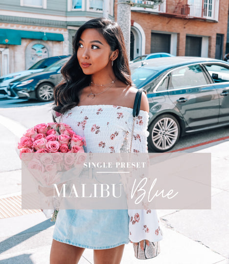 malibu blue lightroom preset