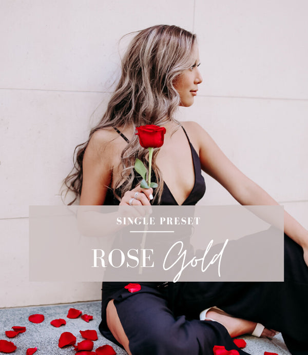 rose gold lightroom preset