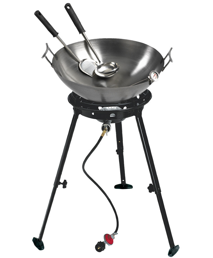 "22"" Deep Dish Carbon Steel Wok Kit with Big Kahuna(R) Propane Burner,  - Eastman Outdoors"
