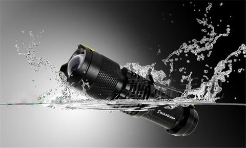WATERPROOF 2000LM ZOOMABLE POCKET-SIZED LED FLASHLIGHT