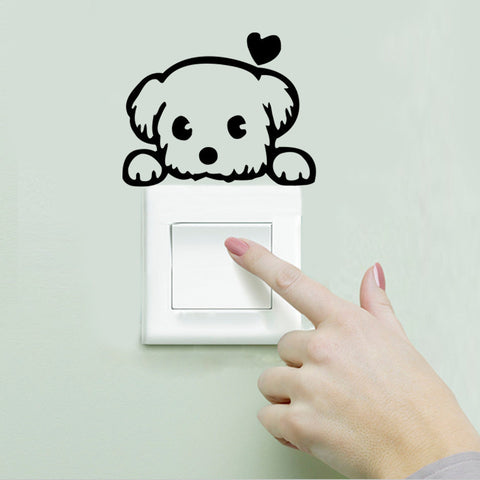 CAT / DOG REMOVABLE LIGHT-SWITCH AND WALL STICKERS
