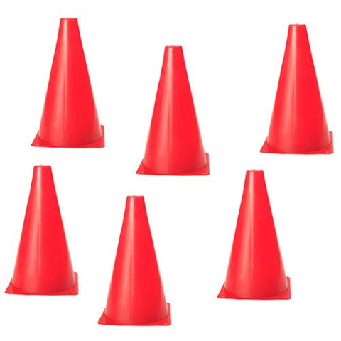 AGILITY AND SOCCER CONES - 6 IN RED