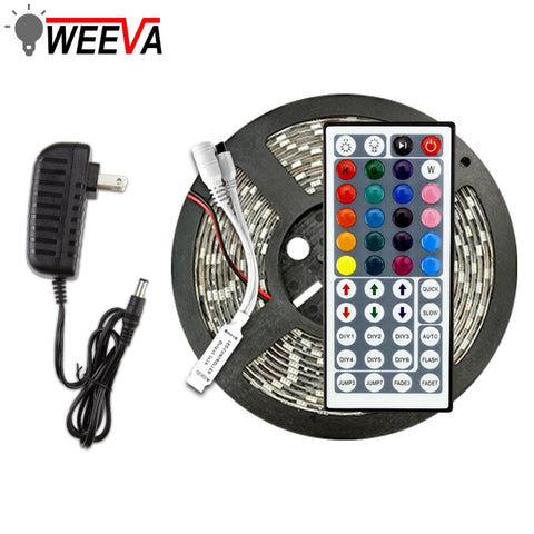 WATERPROOF DECORATIVE LED LIGHT STRIP + WALL SOCKET POWER ADAPTER + PROGRAM UNIT