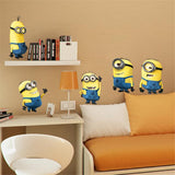 REMOVABLE MINIONS WALL STICKER DECALS