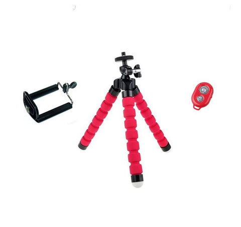 FLEXIBLE TRIPOD + REMOTE CONTROL FOR SMARTPHONE VIDEO AND PHOTOS