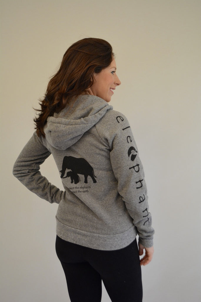 Elephant Cozy Eco Zip Front Fleece