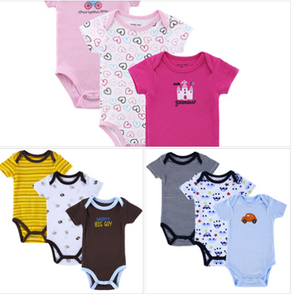 3 Pieces/lot Fantasia Baby Bodysuit Infant Jumpsuit