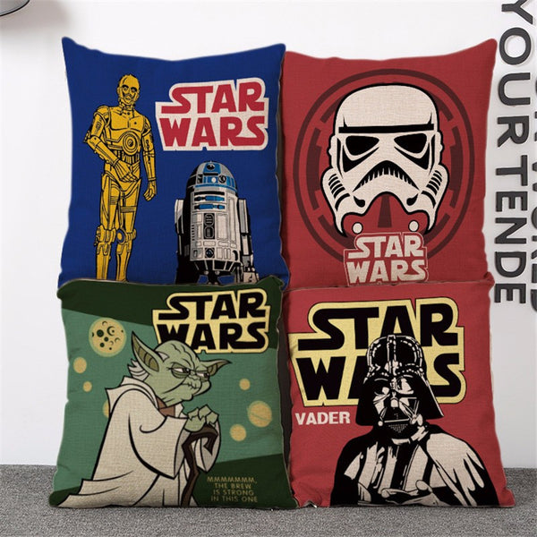 50% OFF !!! Cover Pillow Case Creative Handsome Seat Cushion Pillow Cover Star Wars Painted Cartoon Pillow