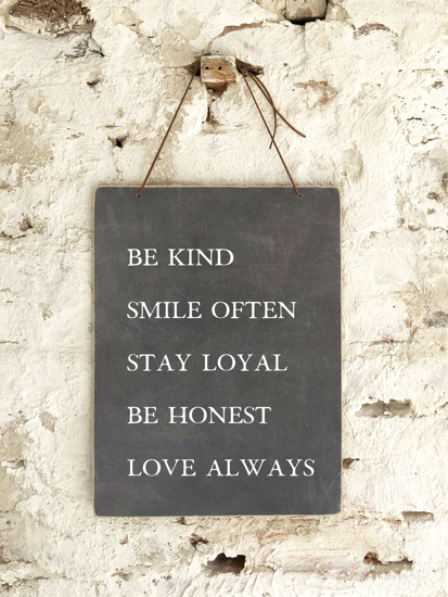 Be Kind Smile Often Slate Board Sign