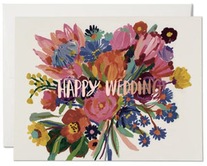 Happy Wedding Flowers Card
