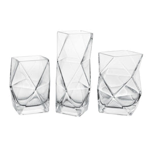 Diamond Cut Clear Vase Collection